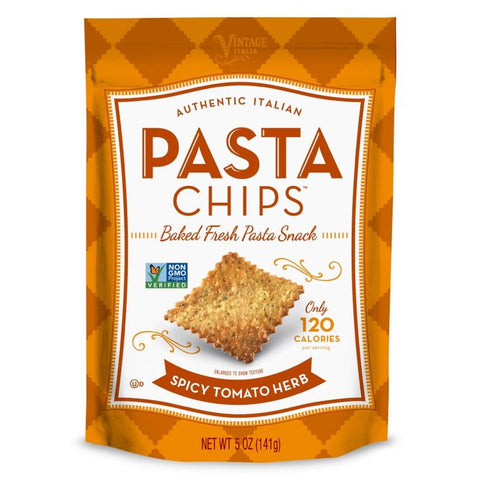 Pasta Chips, Spicy Tomato Herb, 5 Oz (Pack of 12)