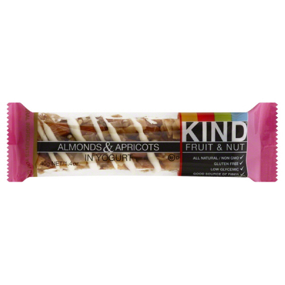 Kind Almonds & Apricots in Yogurt Fruit & Nut Bar, 1.6 Oz (Pack of 12)