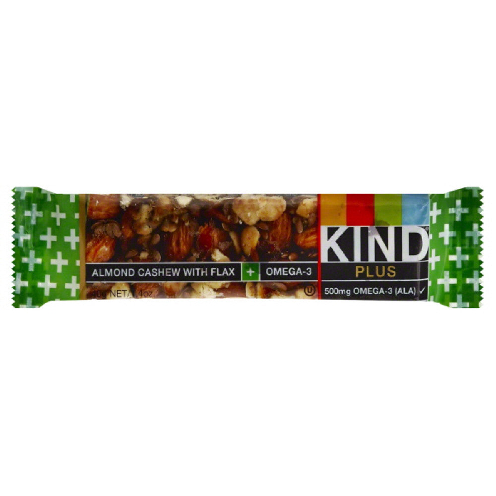 Kind Almond Cashew with Flax + Omega-3 Bar, 1.4 Oz (Pack of 12)