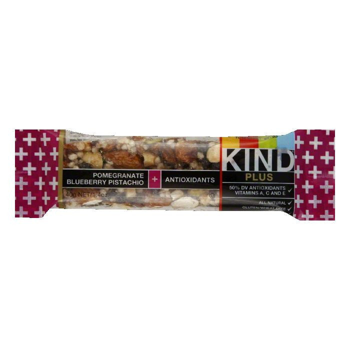 Kind Pomegranate Blueberry Plus Bar, 1.4 OZ (Pack of 12)