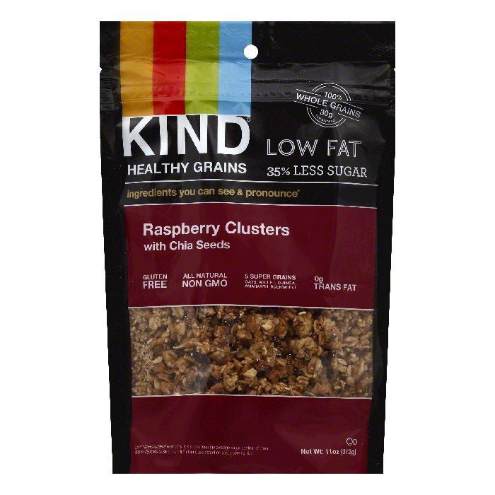 Kind Raspberry Clusters with Chia Seeds, 11 OZ (Pack of 6)