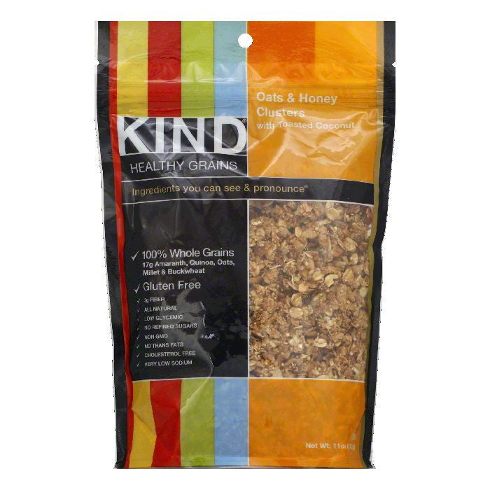 Kind Oats & Honey Clusters with Toasted Coconut, 11 OZ (Pack of 6)