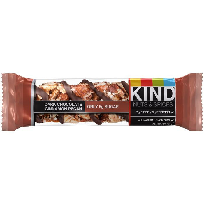 KIND Dark Chocolate Cinnamon Pe 1.4 Oz Bar (Pack of 12)