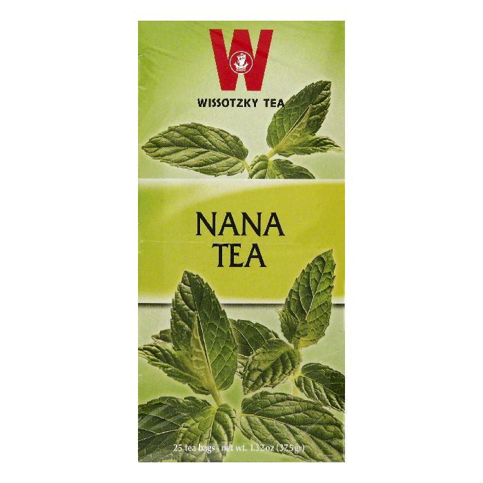 Wissotzky Tea Bags Nana Tea, 25 ea (Pack of 6)