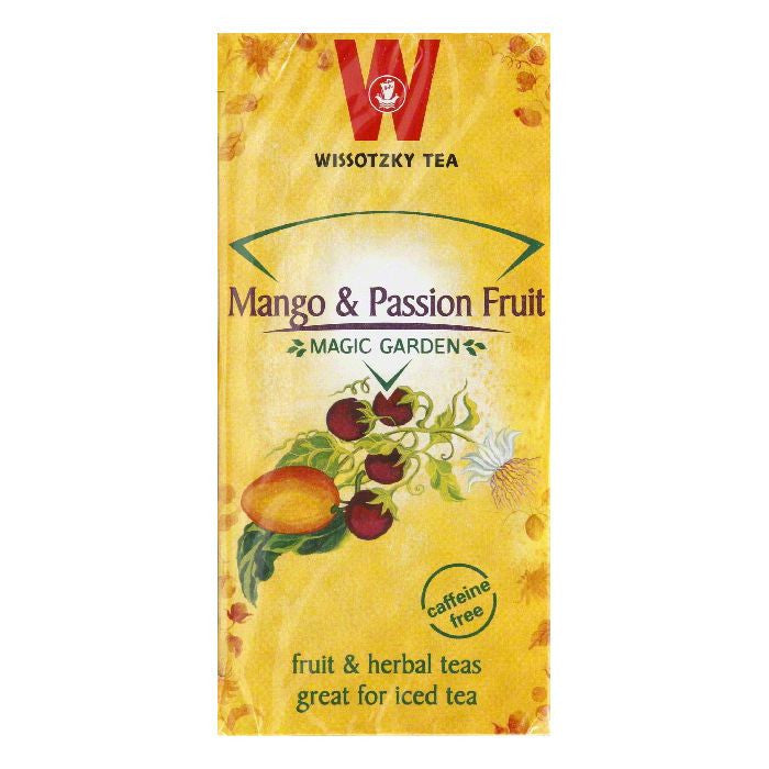 Wissotzky Tea Passion Fruit Mango, 20 BG (Pack of 6)