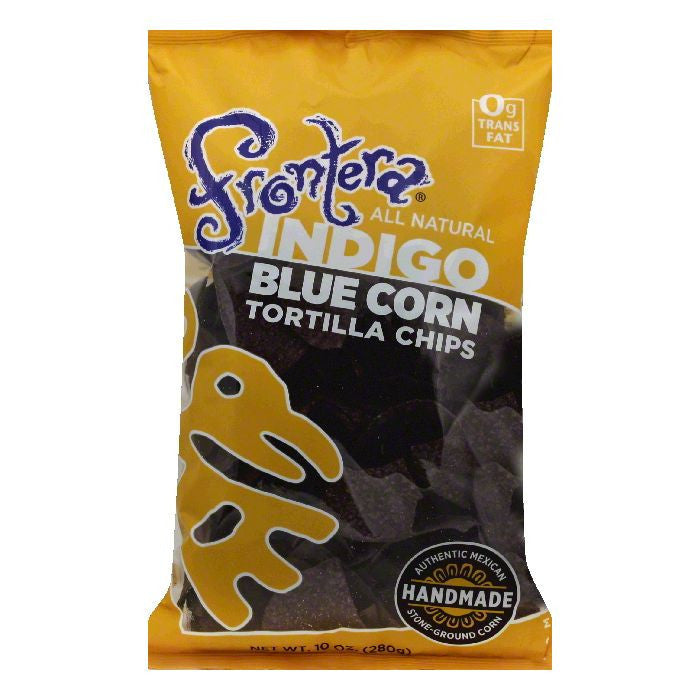 Frontera Indigo Blue Corn Tortilla Chips, 10 OZ (Pack of 12)