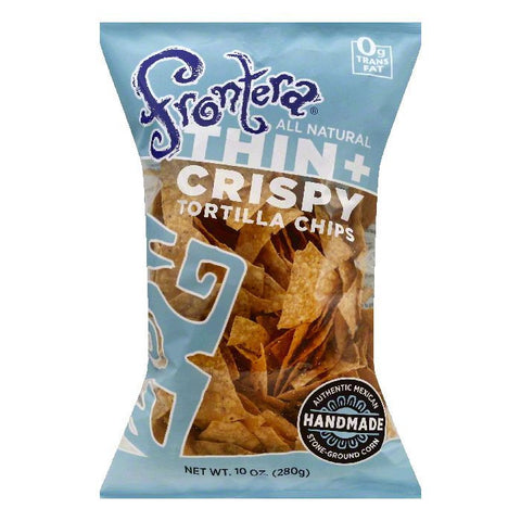 Frontera Thin + Crispy Tortilla Chips, 10 OZ (Pack of 12)