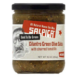 Salpica Green Olive Cilantro Salsa Mild, 16 OZ (Pack of 6)