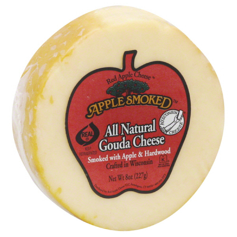 Red Apple Cheese Apple Smoked Gouda Cheese, 8 Oz (Pack of 14)
