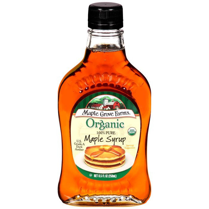Maple Grove Farms Organic Maple Syrup Dark Amber 8.5 fl. Oz   (Pack of 12)