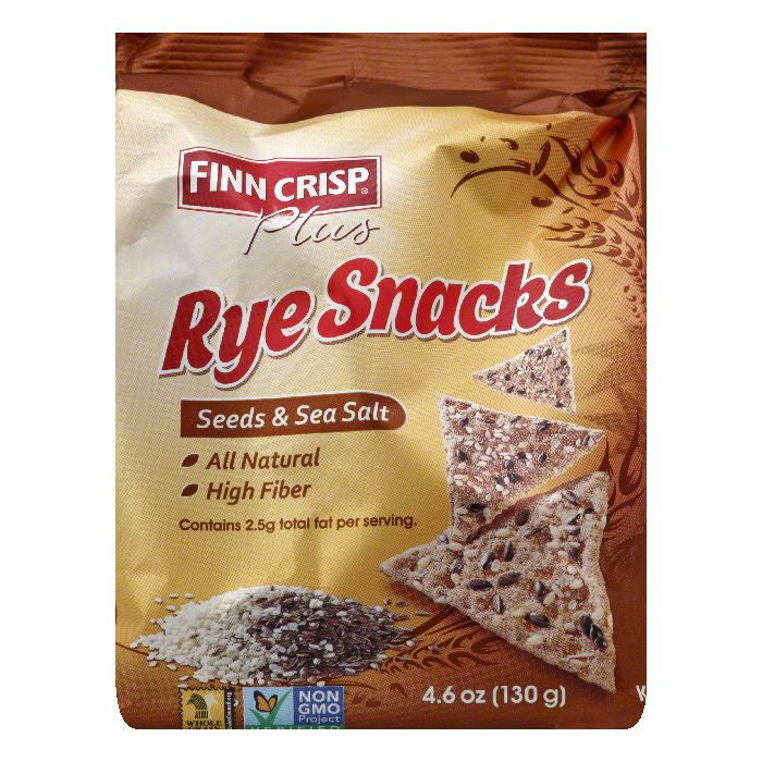 Finn Crisp Seeds & Sea Salt Rye Snacks, 4.6 Oz (Pack of 5)