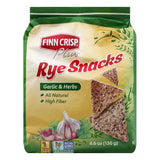 Finn Crisp Garlic & Herbs Rye Snacks, 4.6 Oz (Pack of 5)