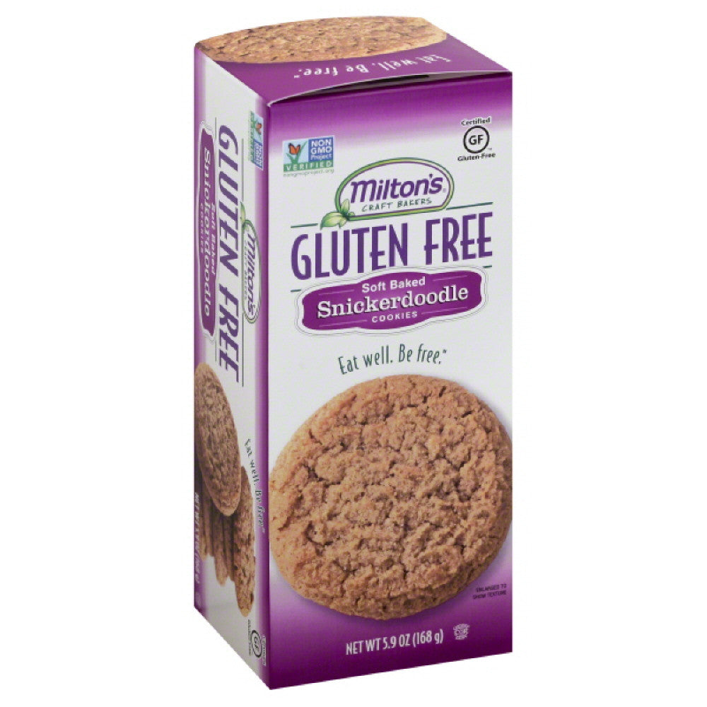 Miltons Snickerdoodle Soft Baked Cookies, 5.9 Oz (Pack of 8)
