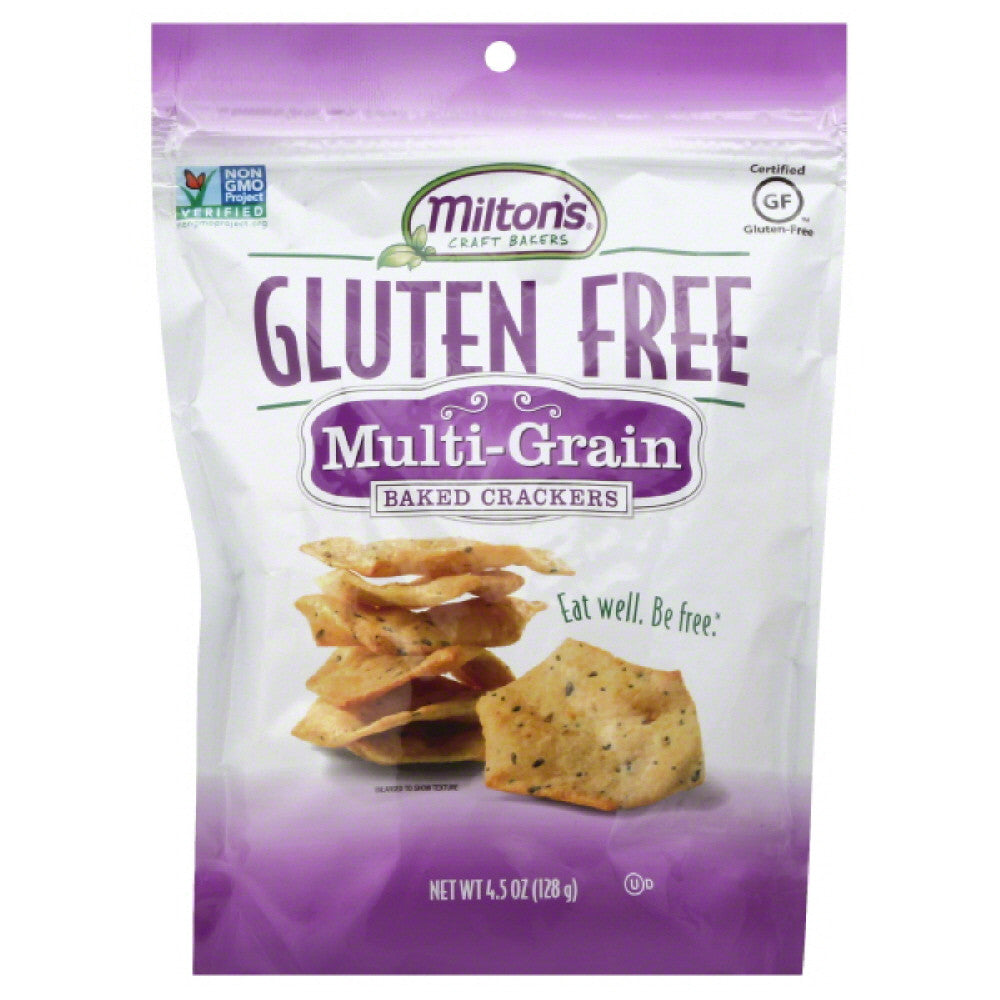 Miltons Multi-Grain Baked Crackers, 4.5 Oz (Pack of 12)