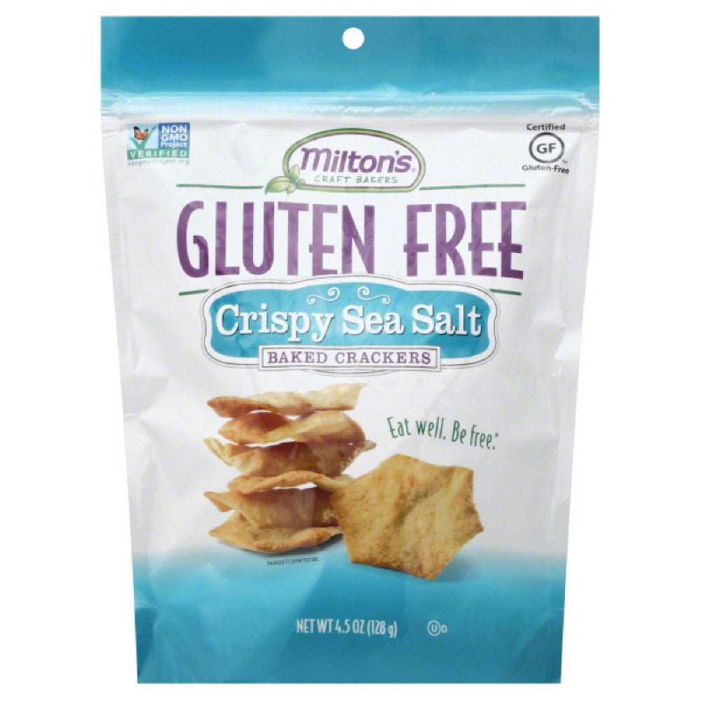 Miltons Crispy Sea Salt Baked Crackers, 4.5 Oz (Pack of 12)