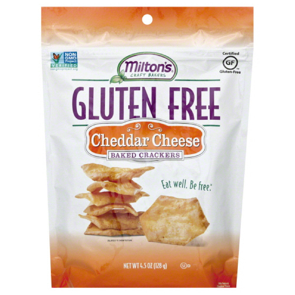 Miltons Cheddar Cheese Baked Crackers, 4.5 Oz (Pack of 12)