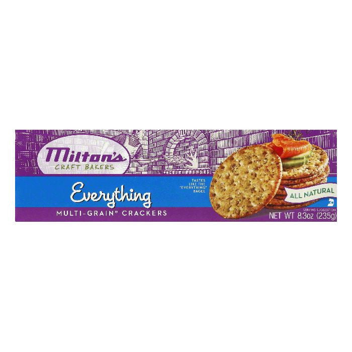Milton's Everything Multi-Grain Crackers, 8.3 OZ (Pack of 12)