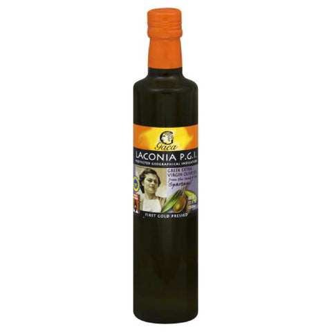 Gaea Laconia P.G.I Extra Virgin Greek Olive Oil, 17 Oz (Pack of 6)