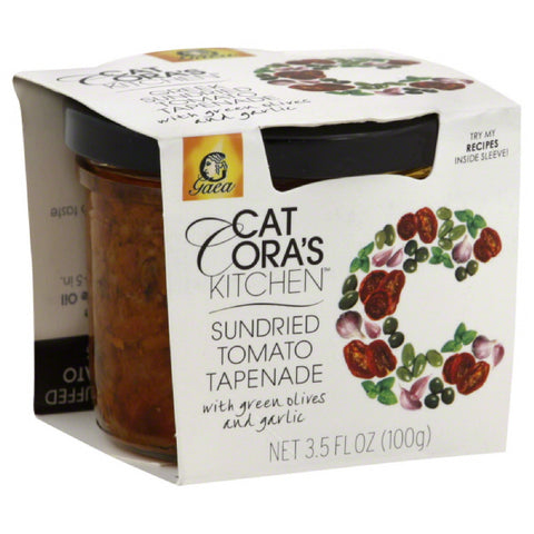 Cat Coras Kitchen Sundried Tomato Tapenade with Green Olives and Garlic, 3.53 Oz (Pack of 6)