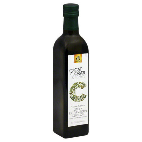 Cat Coras Kitchen Premium Organic Greek Extra Virgin Olive Oil, 17 Oz (Pack of 6)