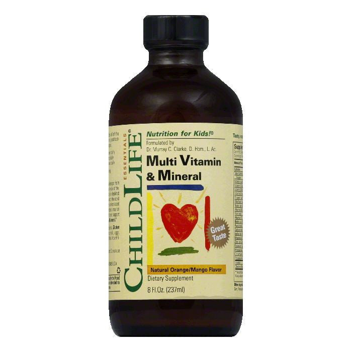 ChildLife Natural Orange/Mango Flavor Multi Vitamin & Mineral, 8 Oz
