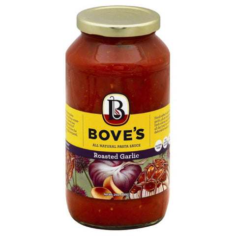 Boves Roasted Garlic All Natural Pasta Sauce, 24 Oz (Pack of 6)