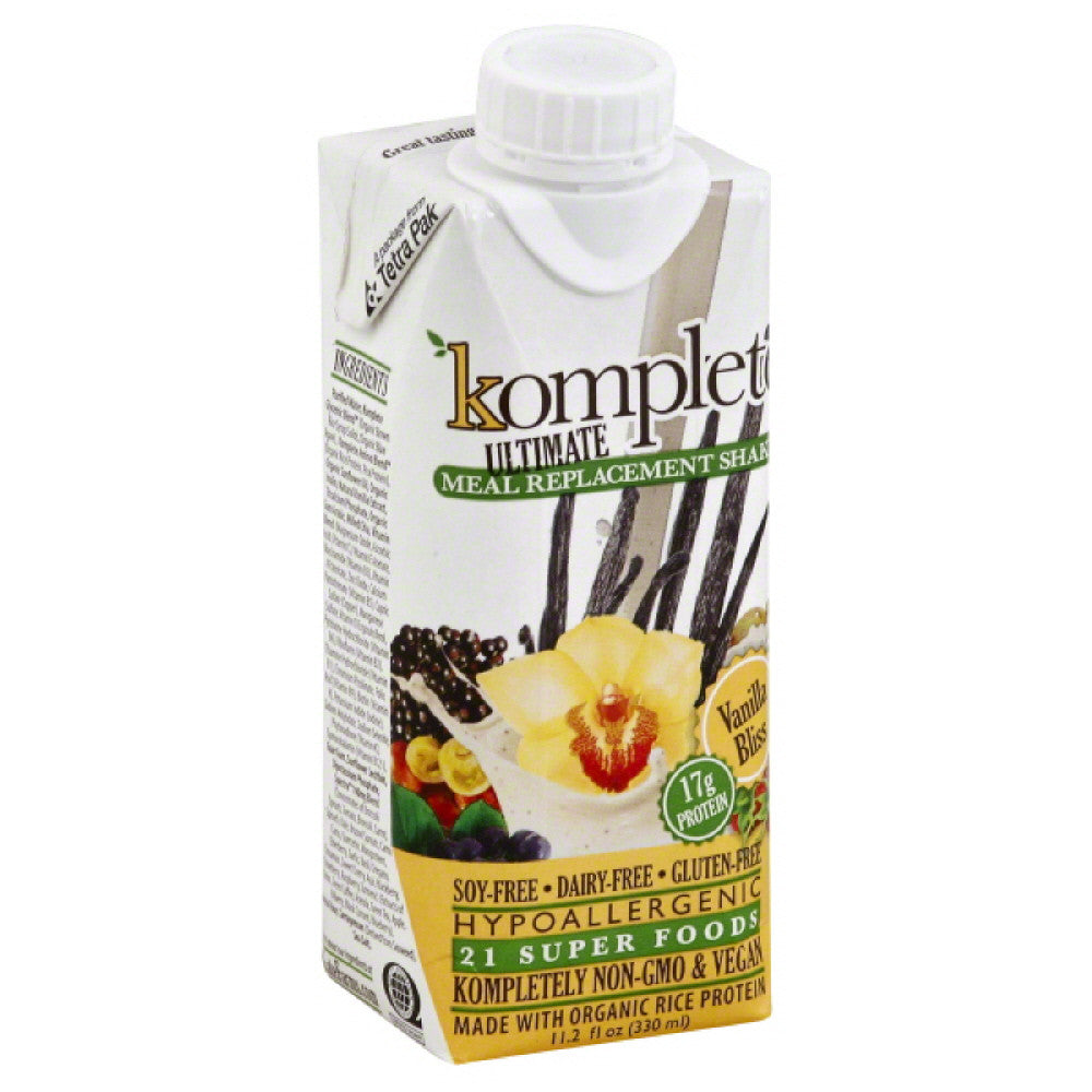 Komplete Vanilla Bliss Meal Replacement Shake, 11.2 Fo (Pack of 12)