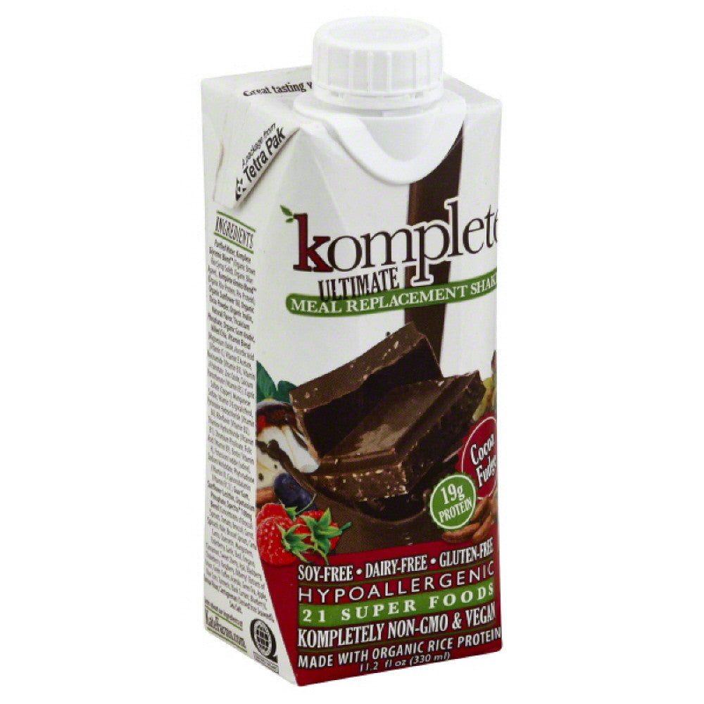 Komplete Cocoa Fudge Meal Replacement Shake, 11.2 Fo (Pack of 12)
