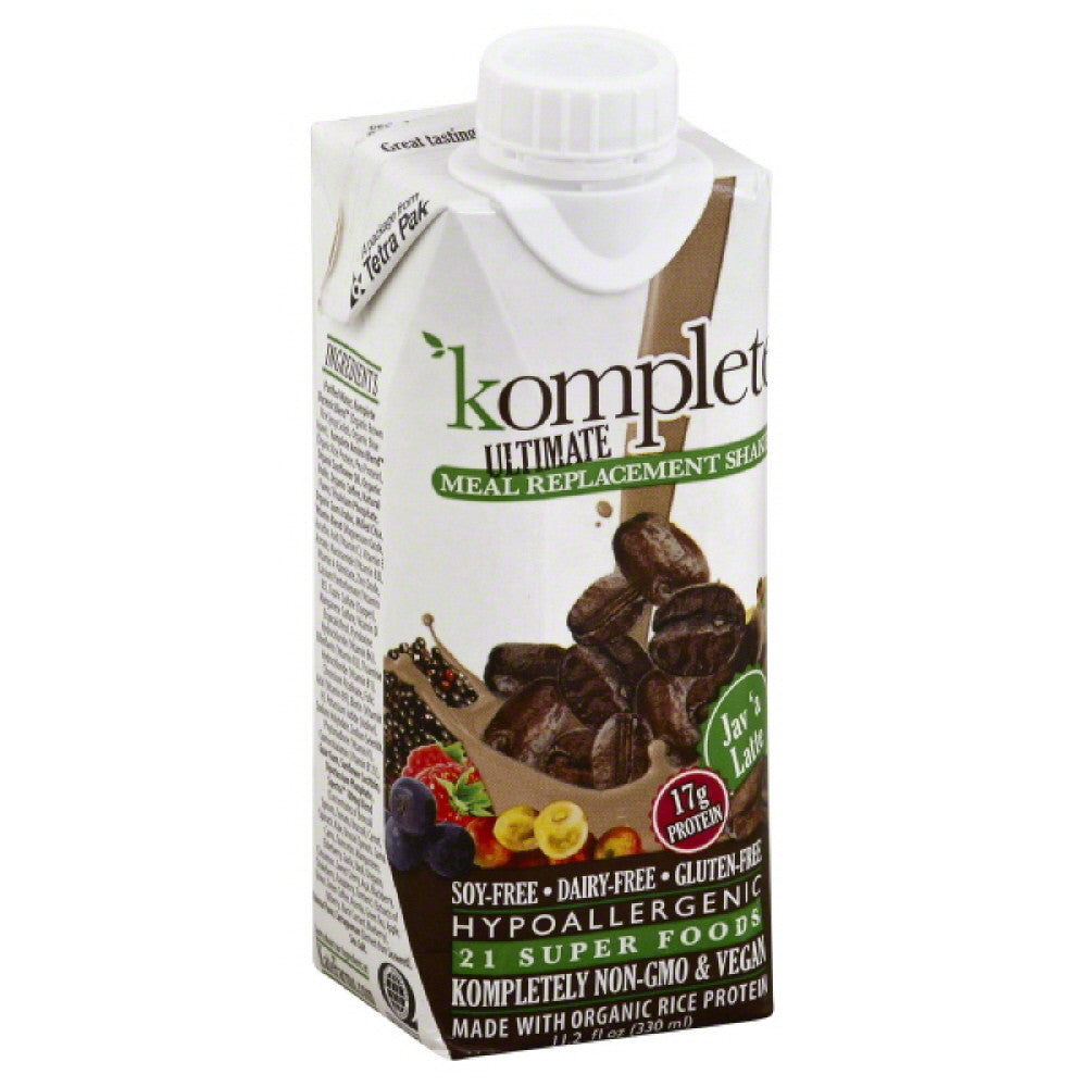 Komplete Jav'a Latte Meal Replacement Shake, 11.2 Fo (Pack of 12)