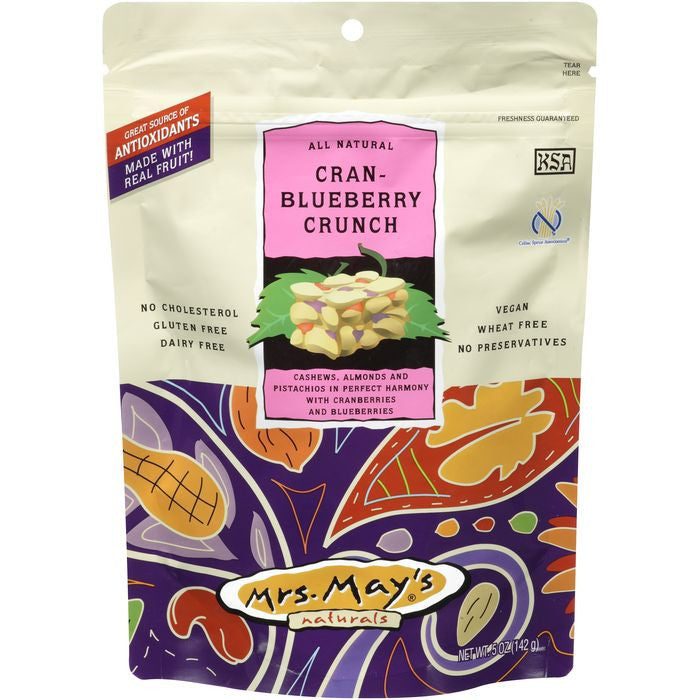 Mrs. May's Naturals All Natural Cran-Blueberry Crunch 5 oz Pouch (Pack of 6)