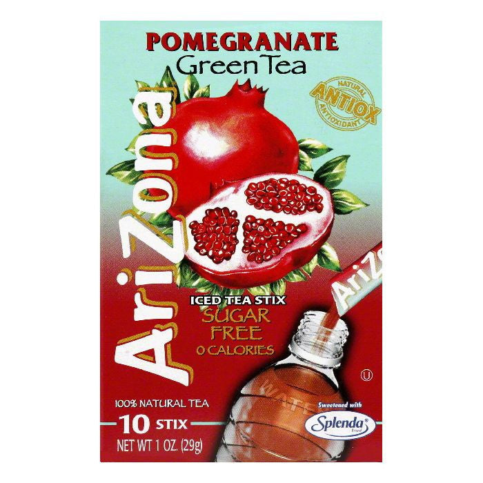 Arizona Tea Iced Tea Powder Stix Pomegranate Sugar Free, 1.1 OZ (Pack of 12)