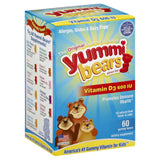 Yummi Bears Fruit Flavor Gummy Bears 600 IU Vitamin D3, 60 Pc