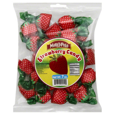 Marco Polo Strawberry Fruit Filled Candy, 7 Oz (Pack of 24)