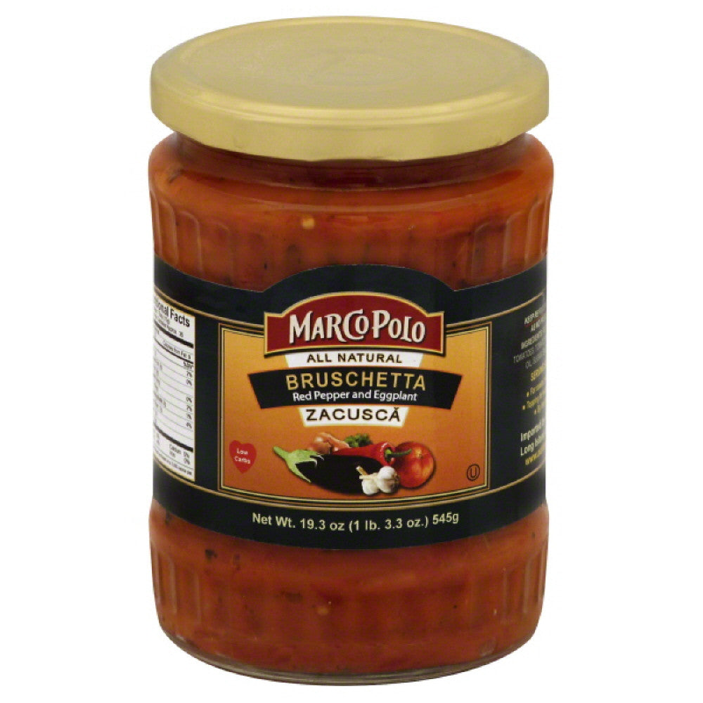 Marco Polo Red Pepper and Eggplant Bruschetta, 19.3 Oz (Pack of 12)