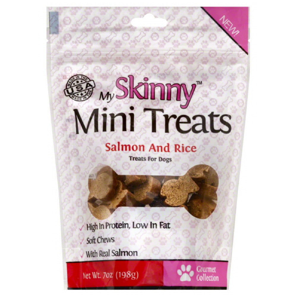My Skinny Salmon and Rice Mini Treats Treats For Dogs, 7 Oz (Pack of 8)