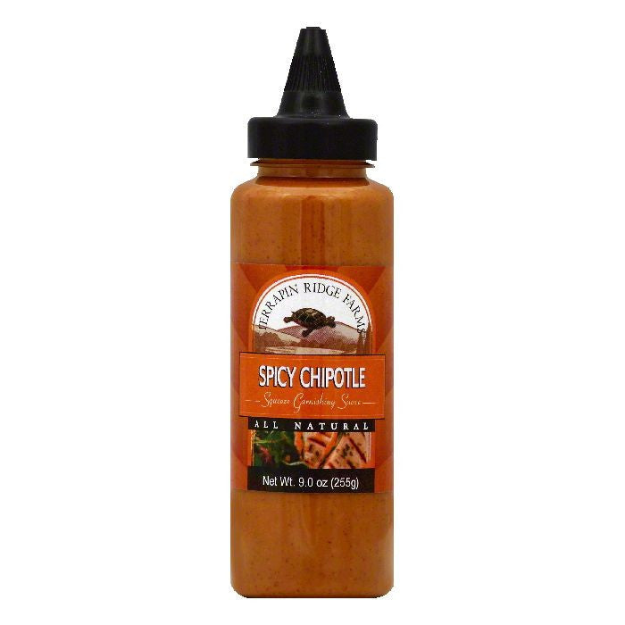 Terrapin Ridge Farms Spicy Chipotle Squeeze Garnishing Sauce, 9 OZ (Pack of 6)