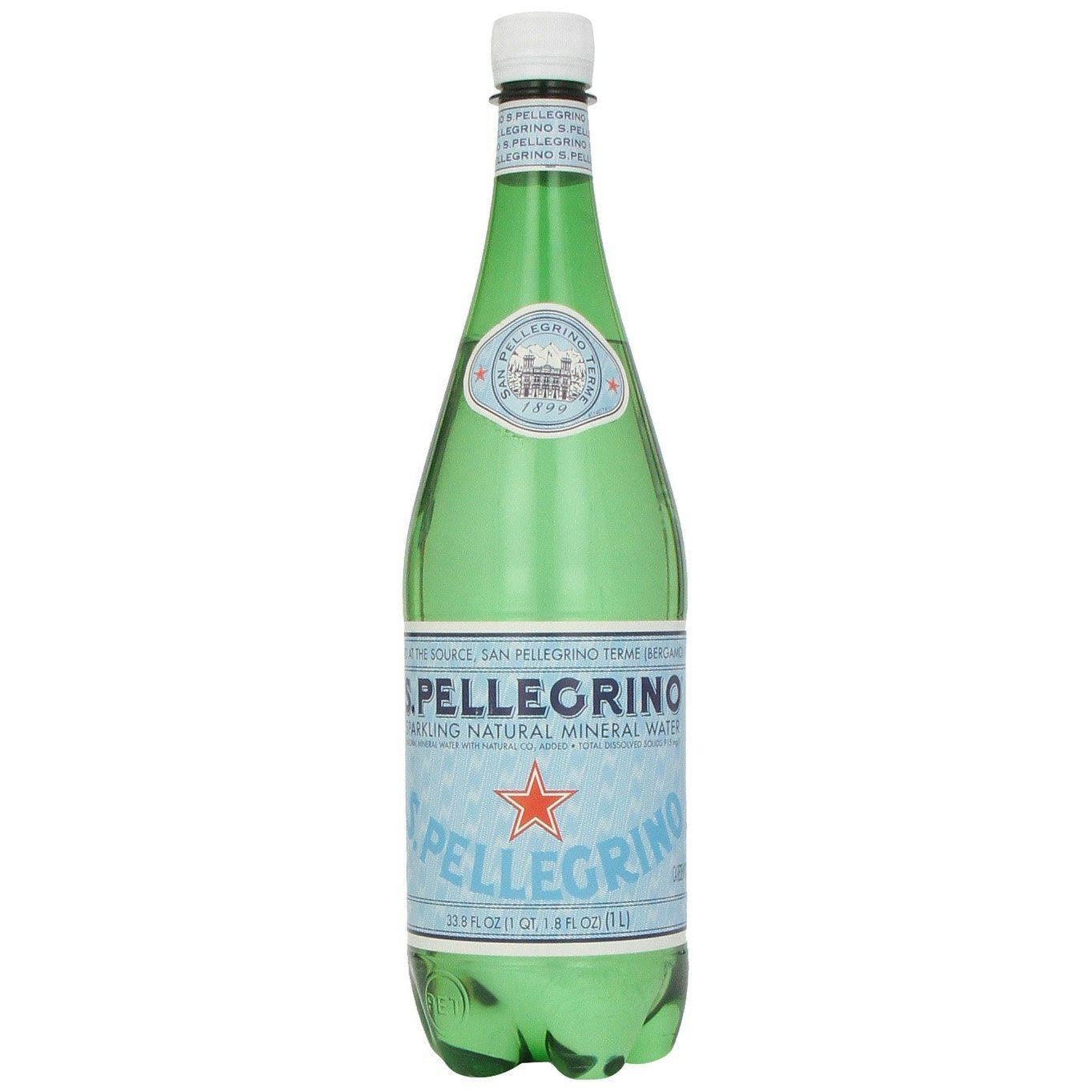 San Pellegrino Sparkling Natural Mineral Water, 33.8 Oz (Pack of 12)