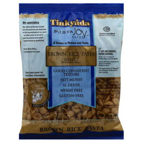 Tinkyada Shells Brown Rice Pasta, 16 Oz (Pack of 12)