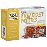 Sol Cuisine Veggie Meatless Breakfast Patties, 8 Oz (Pack of 12)