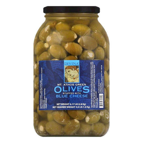 Divina Blue Cheese Green Olives, 4 LB (Pack of 2)