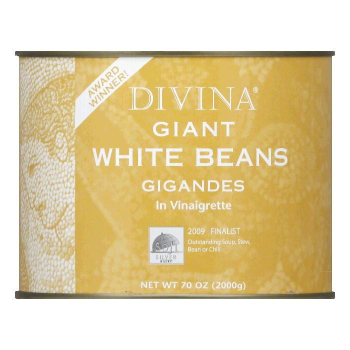 Divina Giant White Beans, 4.4 LB (Pack of 6)