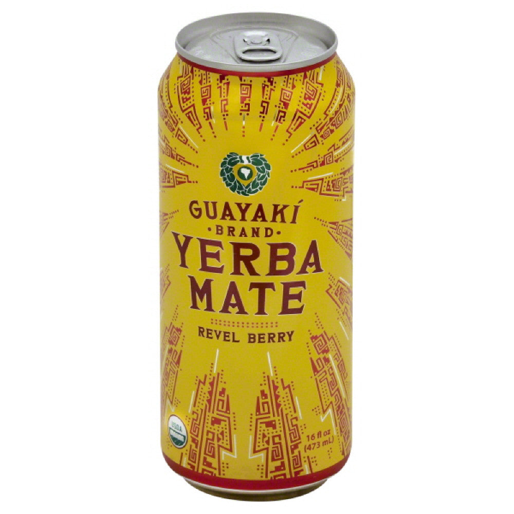 Guayaki Revel Berry Yerba Mate, 16 Oz (Pack of 12)