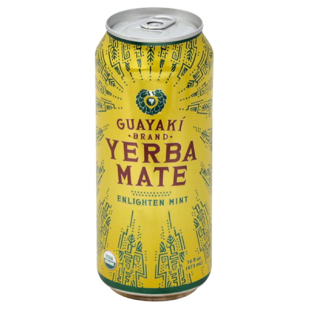 Guayaki Enlighten Mint Yerba Mate, 16 Oz (Pack of 12)