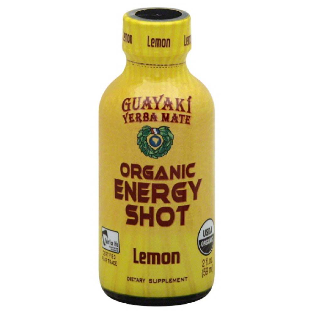 Guayaki Lemon Yerba Mate Organic Energy Shot, 2 Fo (Pack of 12)