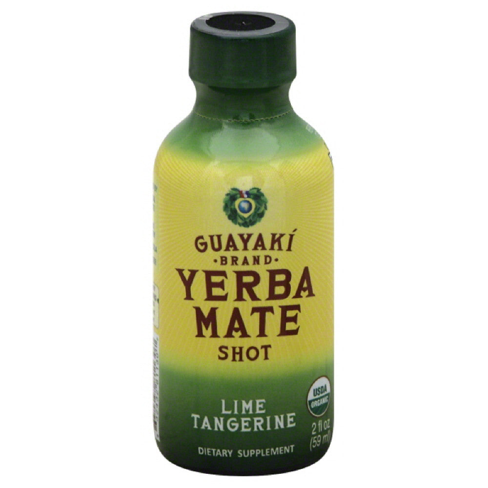 Guayaki Lime Tangerine Yerba Mate Shot, 2 Fo (Pack of 12)