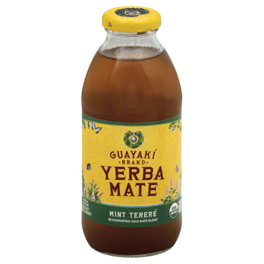 Guayaki Mint Terere Yerba Mate, 16 Fo (Pack of 12)