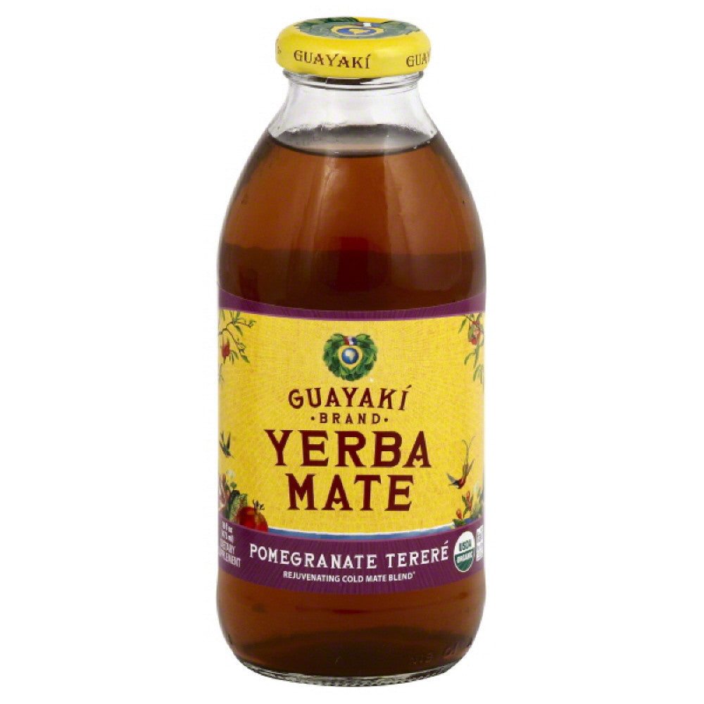 Guayaki Pomegranate Terere Yerba Mate, 16 Fo (Pack of 12)