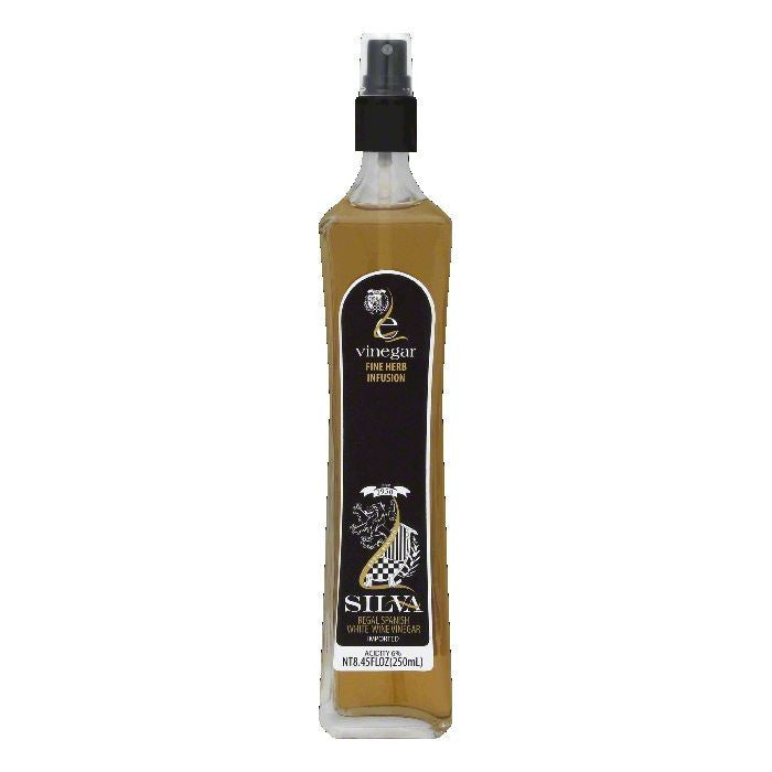 Silva Fine Herb Infusion White Wine Vinegar, 8.45 OZ (Pack of 6)