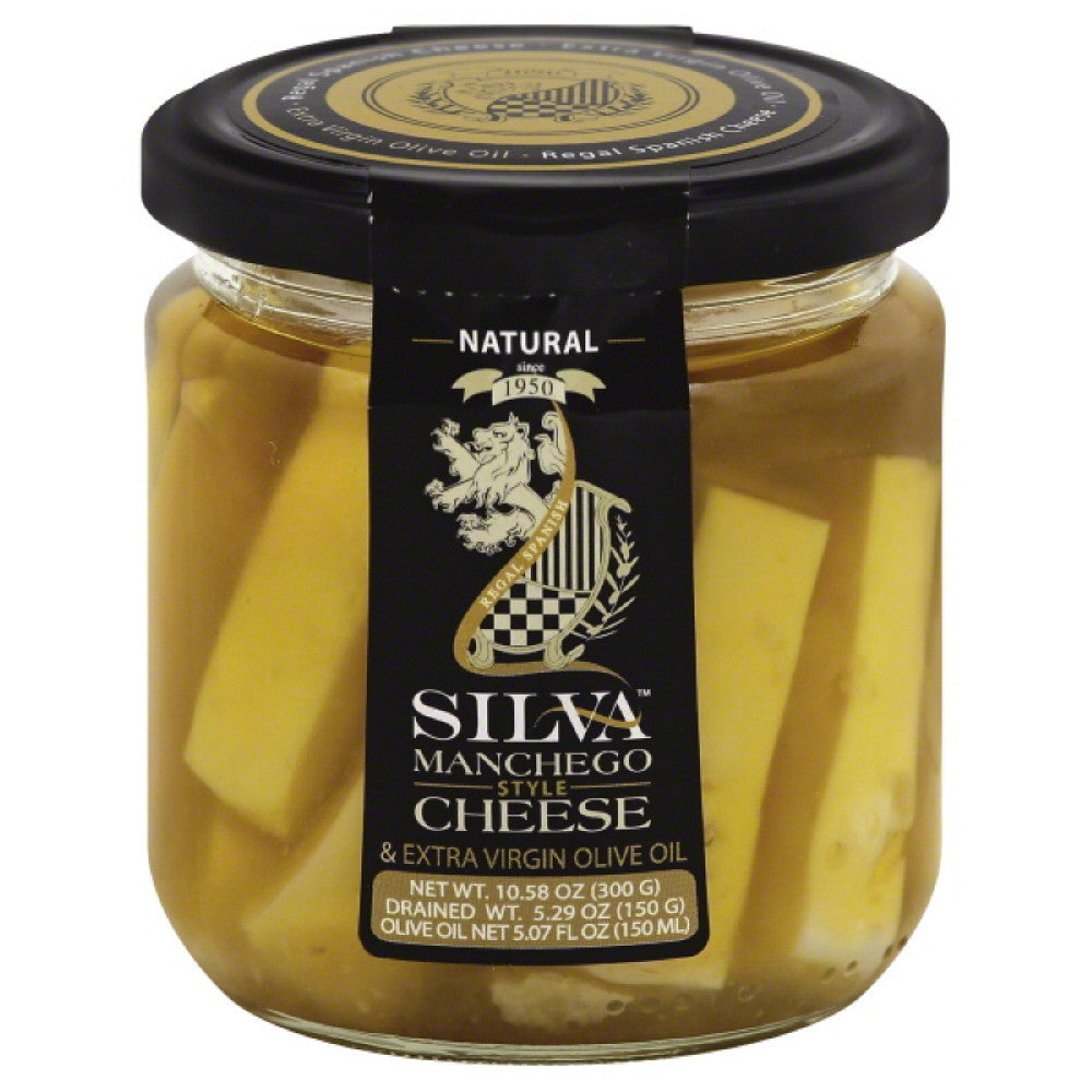 Silva Manchego Style & Extra Virgin Olive Oil Cheese, 10.6 Oz (Pack of 6)