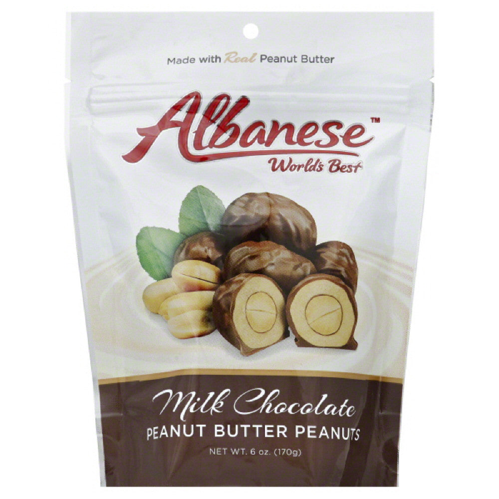 Albanese  Milk Chocolate Peanut Butter Peanuts, 6 Oz (Pack of 6)